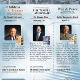 Kollel Yom Rishon Series: Dr. David Pelcovitz, Dr. Steven Fine, and Rabbi Benjamin Blech in Toronto, Canada